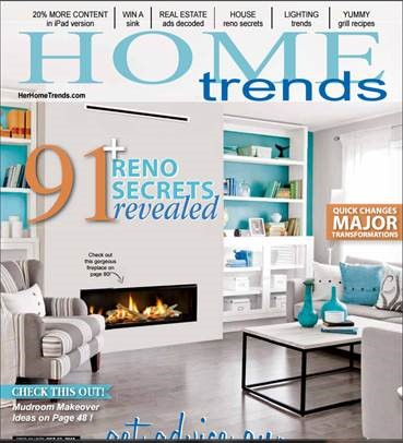 Features In Canadian Home Trends Magazine… Again 2016